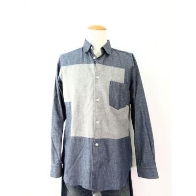 COMME des GARCONS SHIRT コムデギャルソン シャツ コットン100%長袖シャツ Sサイズ 中古 送料無料