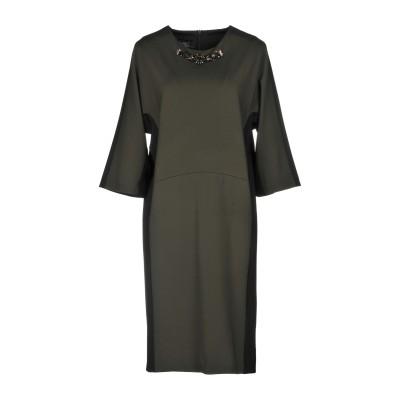 CLIPS ミニワンピース&ドレス ミリタリーグリーン 40 レーヨン 61% / ナイロン 31% / ポリウレタン 8% ミニワンピース&ドレス