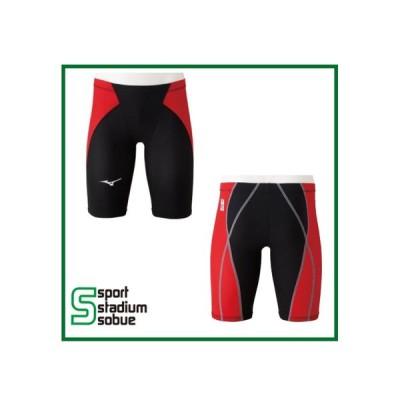 mizuno(ミズノ) メンズ競泳用布帛水着 箱なし MX・SONIC α(MX・ソニック アルファ) ハーフスパッツ N2MB011 96(ブラック×レッド) 縫製あり