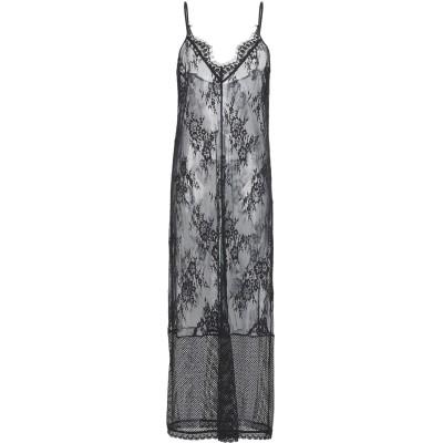 SCEE by TWINSET ロングワンピース&ドレス ブラック XL ナイロン 100% / ポリウレタン ロングワンピース&ドレス
