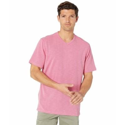 トッミーバハマ シャツ トップス メンズ Tropicool Paradise IslandZone V-Neck T-Shirt Spring Cherry