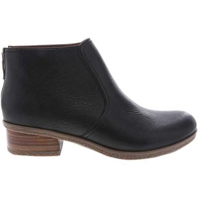 ダンスコ ブーツ&レインブーツ レディース シューズ Becki Waterproof Boot - Women's Black Waterproof Tumbled
