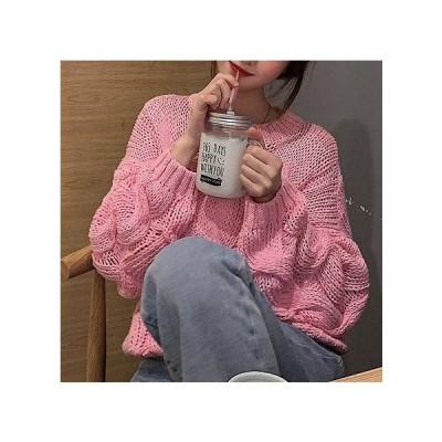 ニット セーター ニット レディース 40代 韓国 トップス 大きめ 安い 新品 鍵編み ざっくり 長袖 体型カバー ゆったり カジュアル デート 可愛い