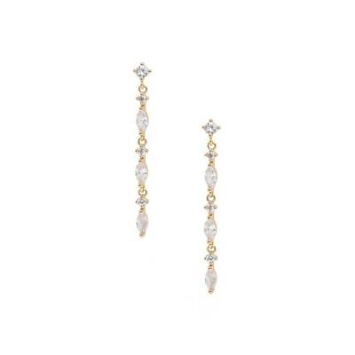エティカ レディース ピアス・イヤリング アクセサリー Dainty Linear Crystal Drop Earrings