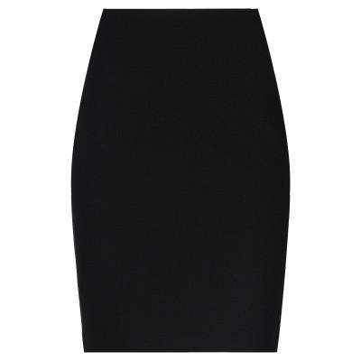 アルマーニ コレッツィオーニ ARMANI COLLEZIONI ひざ丈スカート ブラック 48 ウール 100% ひざ丈スカート