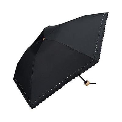 ワールドパーティー(Wpc.) 日傘 折りたたみ傘  ブラック 黒  50cm  レディース 傘袋付き 遮光軽量 プチスター ミニ 801-311 B