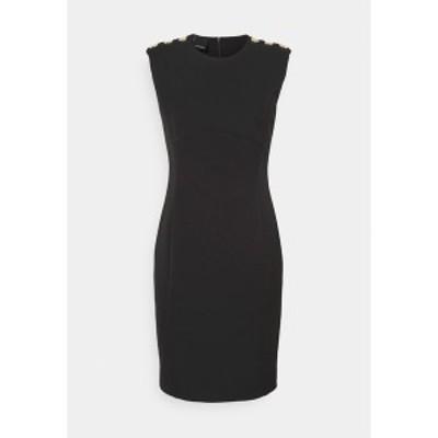 ピンコ レディース ワンピース トップス INSICURO ABITO TECNICO - Shift dress - black black