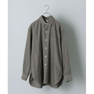 (SHIPS MEN/シップス メン)【SHIPS別注】KAPTAIN SUNSHINE: リラックス レギュラーカラー シャツ/メンズ ダークグレー