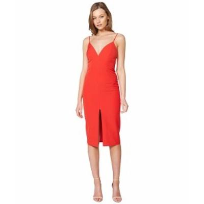 バードット レディース ワンピース トップス Ava Slit Front Dress Fire Red