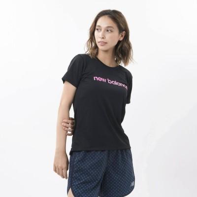 ニューバランス NBRCグラフィックショートスリーブTシャツ JWTR0017-BK レディース