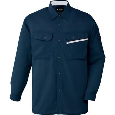 作業服オールシーズン用 自重堂86204 長袖シャツ薄手清涼機能 接触冷感 高通気 消臭&抗菌効果