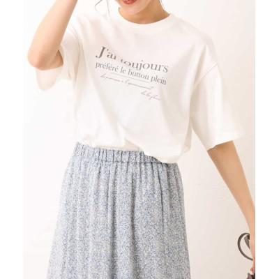 【アー・ヴェ・ヴェ】 ロゴTシャツ レディース ホワイト L a.v.v