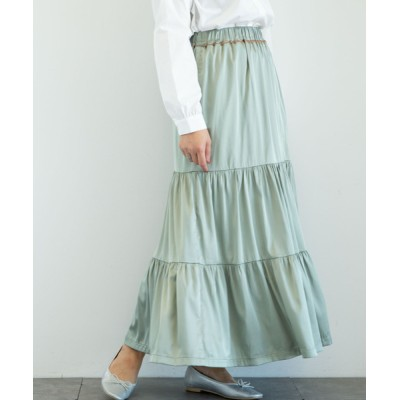 スカート ・novem 9 ヴィンテージサテンスカート*★