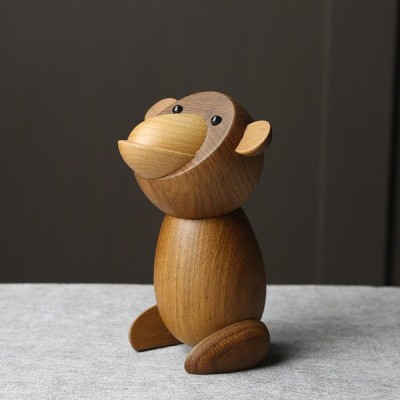 猿 オブジェ 北欧 木製 手作り 癒し ギフト インテリア 人形 装飾 動物
