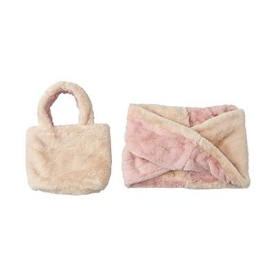ムーンバット estaa(エスタ) ふわもこフェイクファーバイカラースヌード バッグ&スヌード 手洗い可 レディース ピンク 日本 スヌード