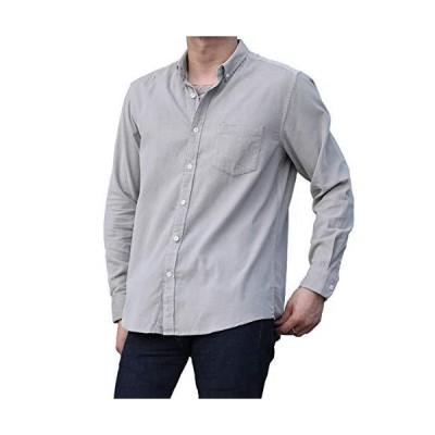 ガナタ コーデュロイ ボタンダウン カラー シャツジャケット 春 秋 冬 大人 長袖 かっこいい シンプル オシャレ トップス 服 無地 シ