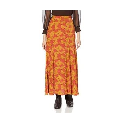 [リリーブラウン] パネル切替花柄ロングスカート LWFS204076 レディース (ORG Free Size)
