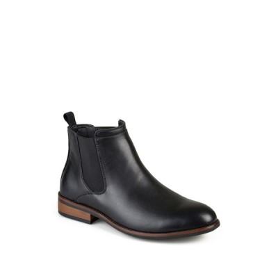 バンス メンズ ブーツ&レインブーツ シューズ Landon Chelsea Boot - Wide Width BLACK
