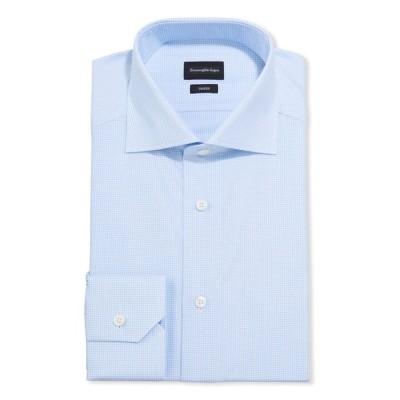 エルメネジルド・ゼニア メンズ シャツ トップス Men's Micro-Check Trim-Fit Dress Shirt