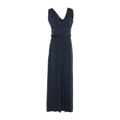 PAOLO CASALINI ロングワンピース&ドレス ダークブルー M レーヨン 100% ロングワンピース&ドレス