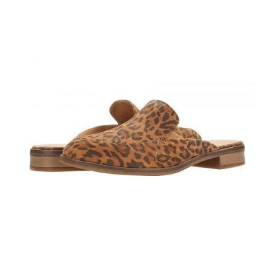 Clarks クラークス レディース 女性用 シューズ 靴 ローファー ボートシューズ Trish Plant - Dark Tan Leopard Print Suede