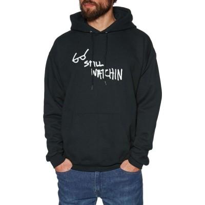 スラッシャー Thrasher メンズ パーカー トップス still watchin pullover hoody Black