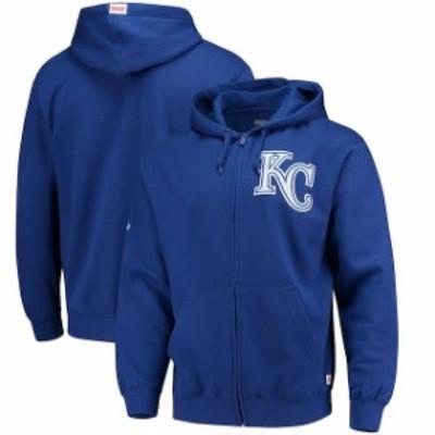 Stitches スティッチ スポーツ用品  Stitches Kansas City Royals Royal Fleece Full-Zip Hoodie