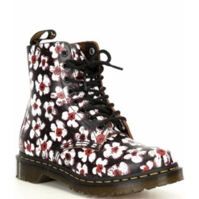 ドクターマーチン レディース ブーツ・レインブーツ シューズ Women's 1460 Pascal Pansy Fayre Combat Boots Black/Red
