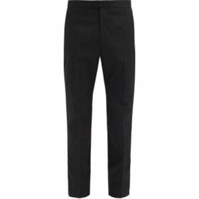 ラフ シモンズ Raf Simons メンズ スラックス ボトムス・パンツ Zip-cuffs slim-leg twill trousers Black
