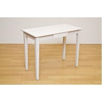 ds-1258302 木製テーブル 【長方形 90cm×45cm】 引出し1杯付き ホワイトウォッシュ 木目調 〔リビング/ダイニング/作業台〕 (ds1258302)