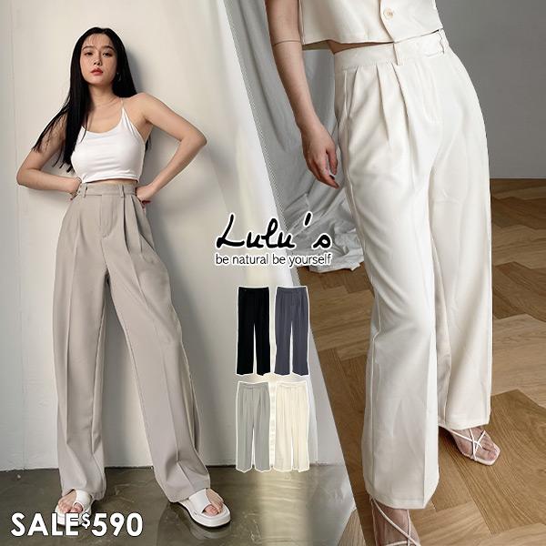 特價【A04210052】C打摺側釦西裝長褲S-L4色