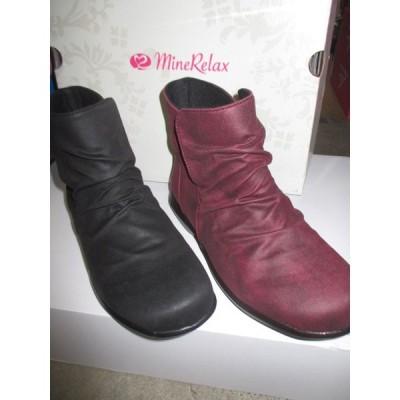 アキレス マインリラックス 176 ブラック&ワイン  防水 防滑 ブーツ 定価:7590円(税込み)