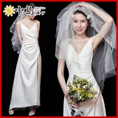 ウエディングドレス 結婚式ドレス プリンセスドレス マキシ丈 花嫁ドレス 披露宴 前撮りドレス パーティードレス 演奏会 大人ピアノ 上品 超豪華