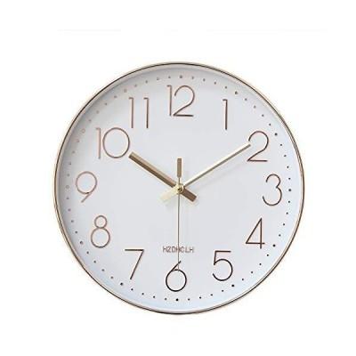 掛け時計 壁掛け 時計 おしゃれ 静か 北欧 連続秒針 静音 壁掛け時 リッピング 掛時計 インテリア 大数字 見やすい 30cm (ロール