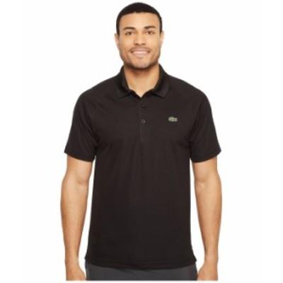 ラコステ メンズ シャツ トップス Sport Short Sleeve Ultra Dry Raglan Sleeve Polo Black