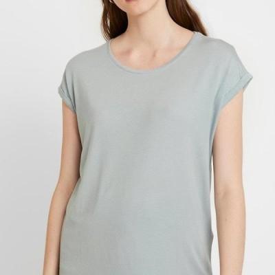 ヴェロモーダ レディース ファッション VMAVA PLAIN - Basic T-shirt - slate