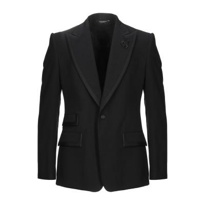 ドルチェ & ガッバーナ DOLCE & GABBANA テーラードジャケット ブラック 50 バージンウール 85% / シルク 10% / ポリ