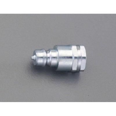 ESCO エスコ G1/2 油圧用雌ねじプラグ(バルブ付)