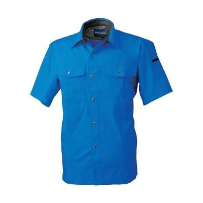 桑和(SOWA) 半袖シャツ 8/ブルー 3Lサイズ 617 作業着 作業服 ワークウェア ウエア トップス メンズ