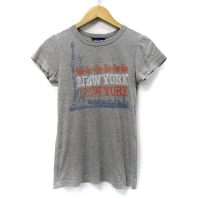 【中古】ジャンクフード JUNK FOOD 自由の女神 NEW YORK ラウンドネック 半袖 Tシャツ カットソー グレー S レディース 【ベクトル 古着】