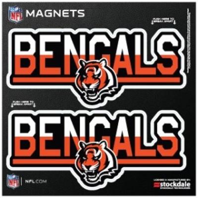 Stockdale ストックデール スポーツ用品  Cincinnati Bengals 6 x 6 Two-Tone Magnet 2-Pack Set