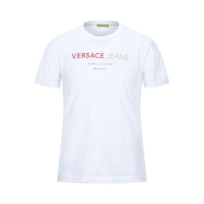 VERSACE JEANS T シャツ ホワイト S コットン 100% T シャツ