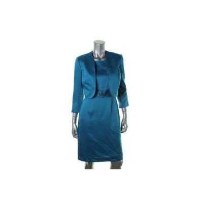 ドレス 女性  エリータハリ  Tahari 4194 レディース Emilia ブルー Tweed 2PC Office Wear ドレス ウイズ ジャケット 8