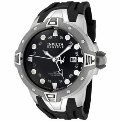 腕時計 インヴィクタ インビクタ Invicta Men's 0651 Reserve Collection Sea Excursion GMT Black Dia