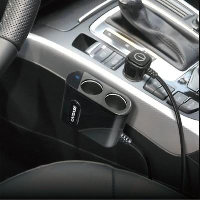 アイフォーン 車内 充電 QC3.0 CAPDASE キャプダーゼ  PowerHub BQA3 2ソケット・2USBカーチャージャー CA00-PN01