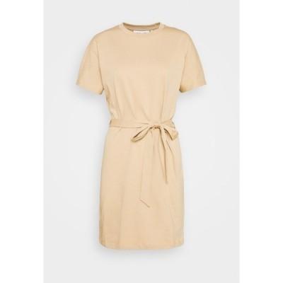 ヌー イン ワンピース レディース トップス CAP SLEEVE MINI DRESS - Jersey dress - beige