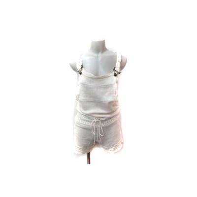 【中古】レディ Rady パンツ サロペット かぎ編み F 白 オフホワイト /YI レディース 【ベクトル 古着】