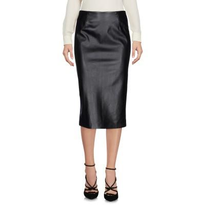 ピンコ PINKO 7分丈スカート ブラック 42 ポリエステル 97% / ポリウレタン 3% 7分丈スカート