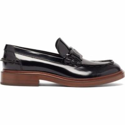 トッズ Tods レディース ローファー・オックスフォード シューズ・靴 Patent-leather penny loafers Black