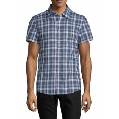 ハイデンヨー メンズ カジュアル ボタンダウンシャツ Tyler Short-Sleeve Cotton Button-Down Shirt
